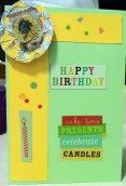 Front of  Peggy's birthday card