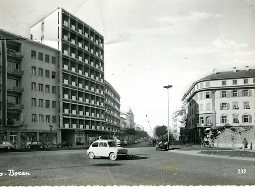 postcard - bolzano - piazza verdi