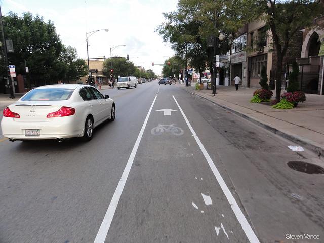 Fake bike lane