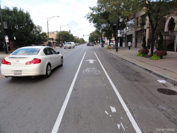 Fake bike lane