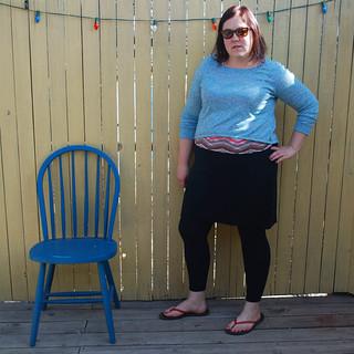 Self Drafted Skirted Leggings v1