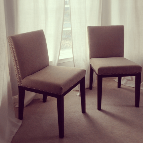 nailhead trim chairs