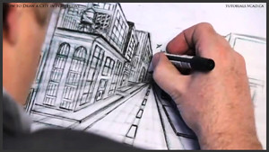 draw city buildings in perspective