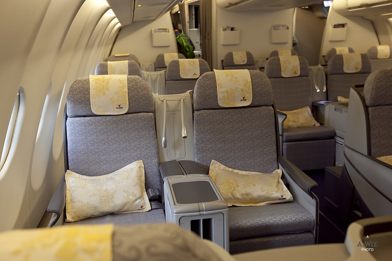 Seats in Air China's Business Class