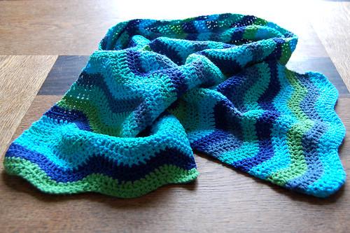 Studio Paars Attic24 ripple scarf sjaal crochet haken gehaakt