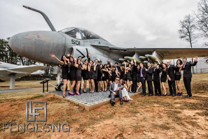 Kanwal & Ali's Pre-Wedding Shoot | Aviation Wing of the Marietta Museum of History | Atlanta Indian Wedding Photography
