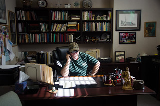 Stephen in his office at Bethesda Methodist