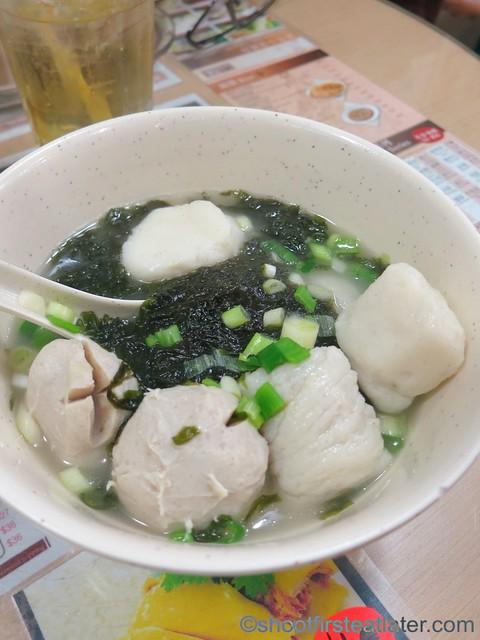 4 kinds of fish balls soup HK$40