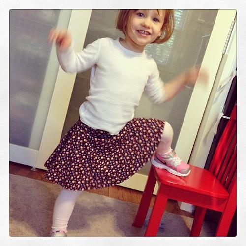 Result of last nights math; a twirly skirt!