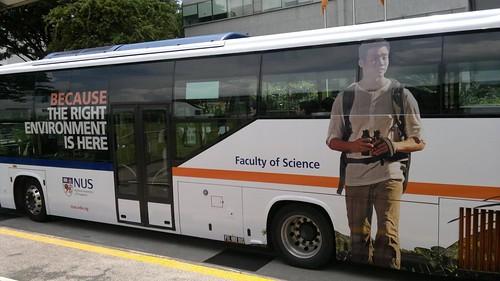 Marcus Chua NUS advert on bus