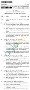 UPTU B.Tech Question Papers - C-803 - Development in Wet Processing