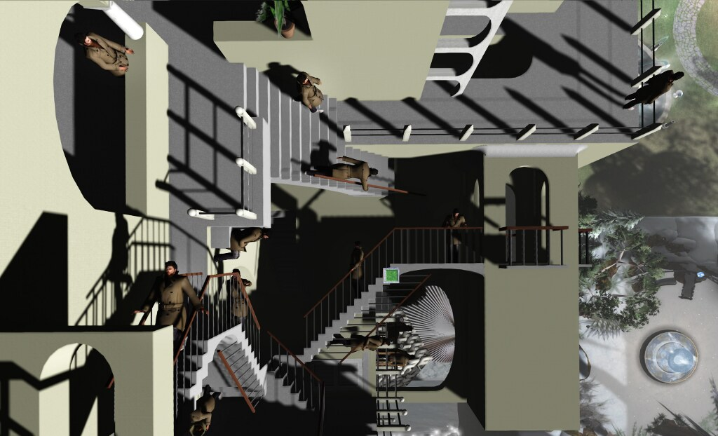 Another perspective: Ricco at Escher-inspired Relativity, in SL
