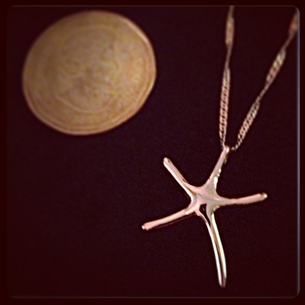 Apr 9 - tiny {My favorite starfish necklace from Florida; a super souvenir} #fmsphotoaday #tiny #starfish