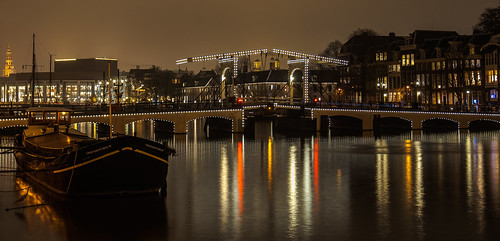 Magere bridge on Amstel River