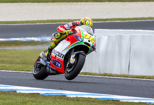 Rossi Comes Onto The Straight by Daniel Hall - AUS