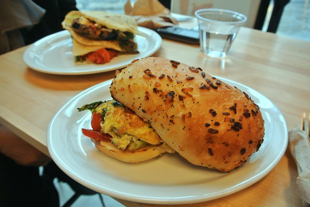 Spring Smash and Roasted Red Pepper Sandwiches