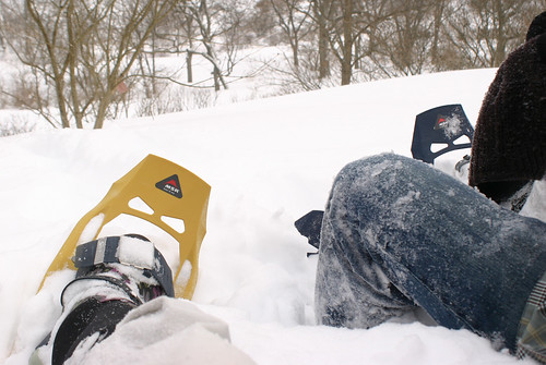 Snowshoeing - taking a rest