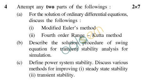 UPTU B.Tech Question Papers - EE-802-Computer Methods in Power System Analysis