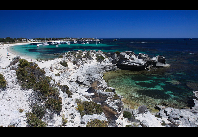 Looking over Longreach Bay, Rottnest Island, Western Australia