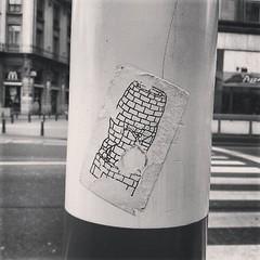 başbakan bacağı #brussels #streetart #bw #sticker