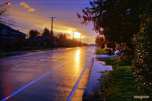 Sunset & Rain