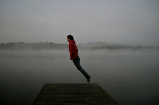Floating Over a Lake in Poland