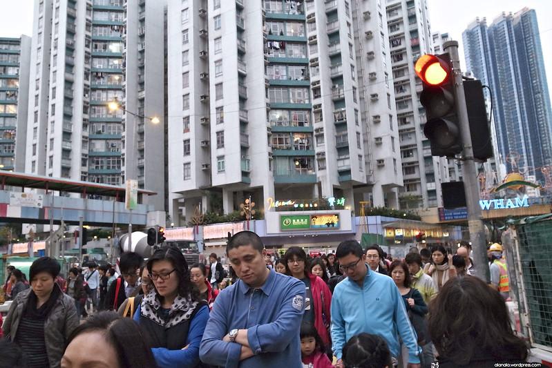 A crowded city.