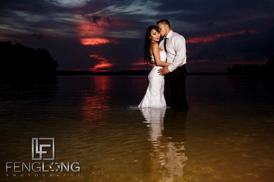 Sophear & Jake's Bridal Trash the Dress | Lake Lanier | Atlanta Asian Cambodian Wedding Photographer