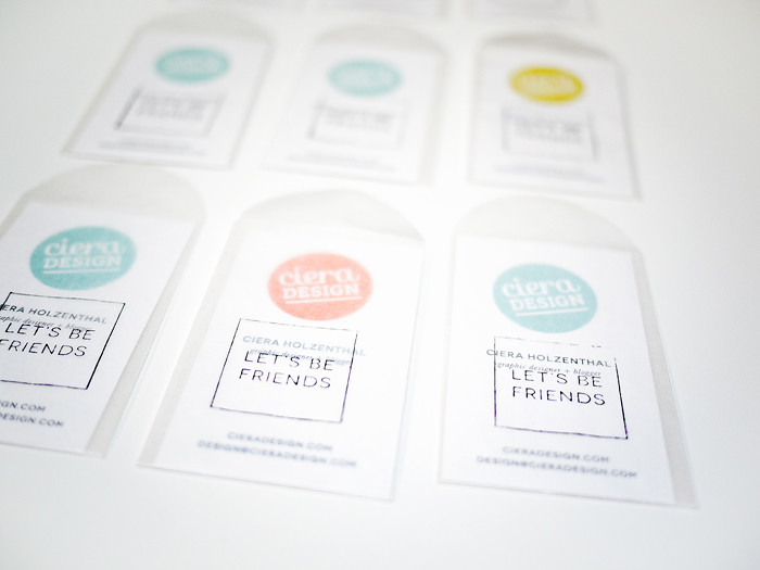 Ciera Design Alt Business Cards