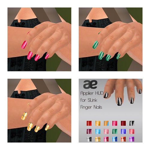 Rhine & Rose Nail Add On HUD (for Slink Hands)