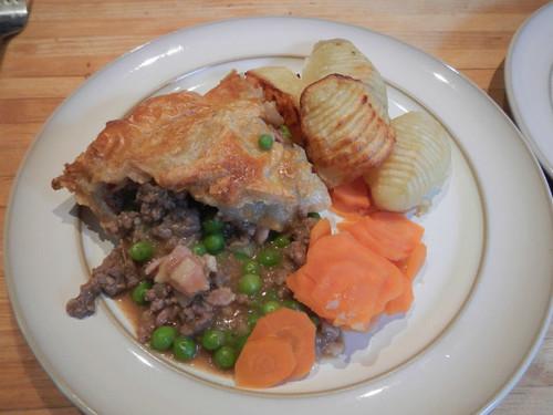 meat pie dinner