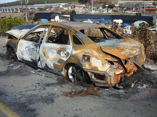 Another burned car by Jens-Olaf
