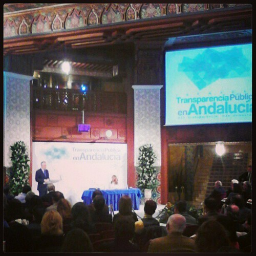 @PepeGriñan inaugurando las jornadas #Transparencia Andalucía #opendatasev