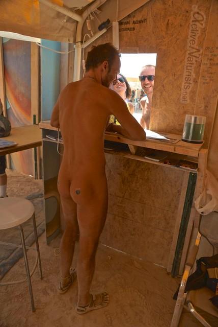 naturist 0077 Post Office, Burning Man 2012, Black Rock City, NV, USA