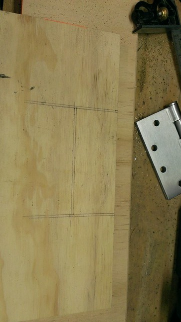 Plywood Door - Hinges