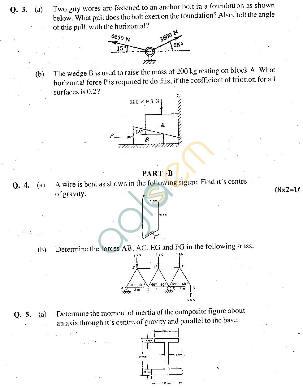 GGSIPU Question Papers Second Semester – end Term 2011 – ETME -110