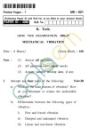 UPTU: B.Tech Question Papers - ME-021 - Mechanical Vibration