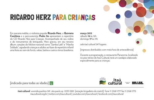 flyer Para Crianças Itaú Cultural