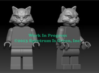 Cat Warrior Work In Progress for Pigs vs Cows on Kickstarter