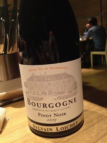 飲み放題でこのワイン。2009 ブルゴーニュ・ルージュ、シルヴァン・ロワシェ@ダブリュー センガワ
