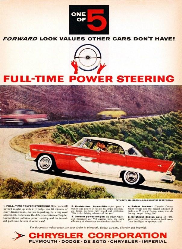 1956 Plymouth Belvedere 4-door Hardtop Sport Sedan