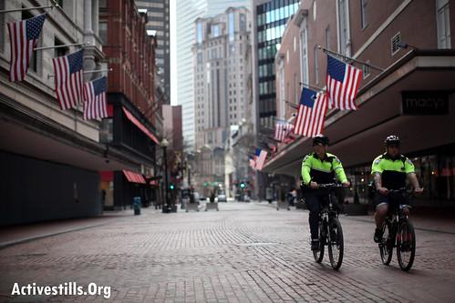 Boston Lockdown during manhunt. Boston, MA 19.04.2013