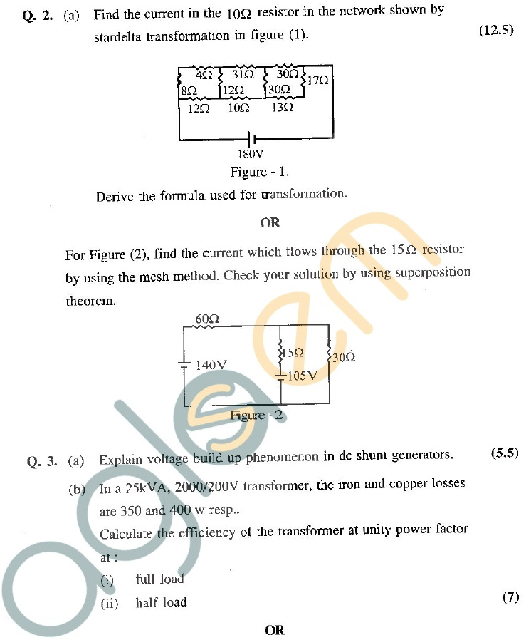 GGSIPU Question Papers Second Semester – end Term 2011 – ETEC -112