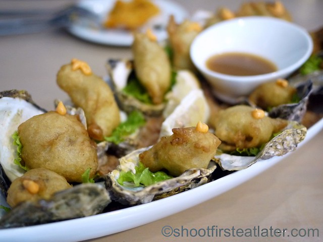 tempura oysters & pearls P225