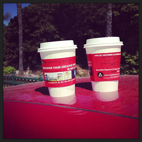 An Americano for him, Latte for me.