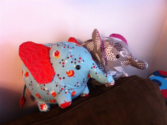 A pair of petite pachyderms!