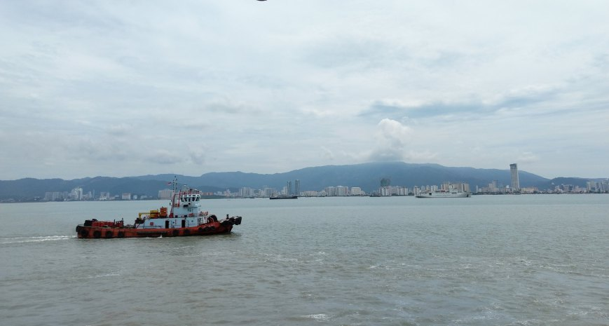 George Town as seen from the ferry - Penang, Malaysia