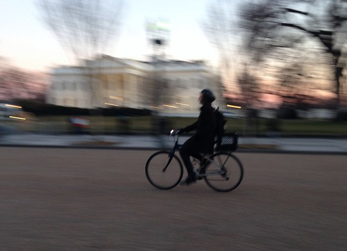 Panning by the White House #bikedc