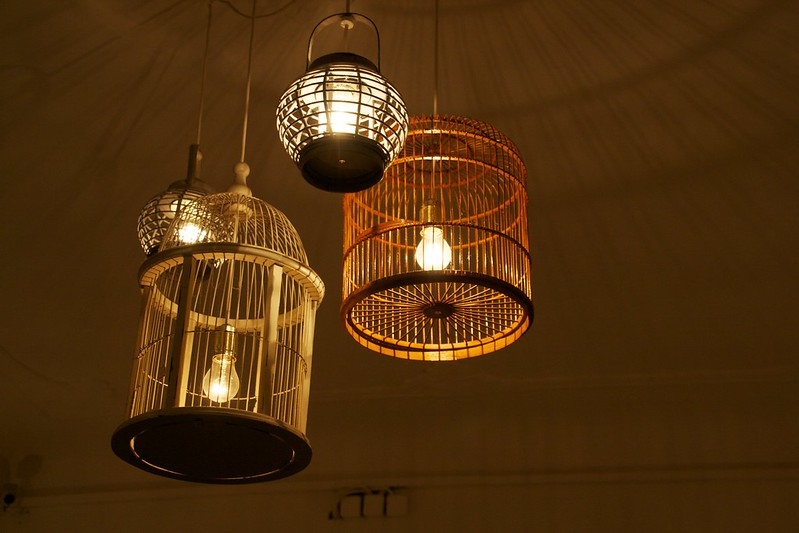 Lamp in a cage