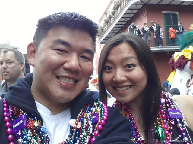 Me and Karo at Mardis Gras 2013